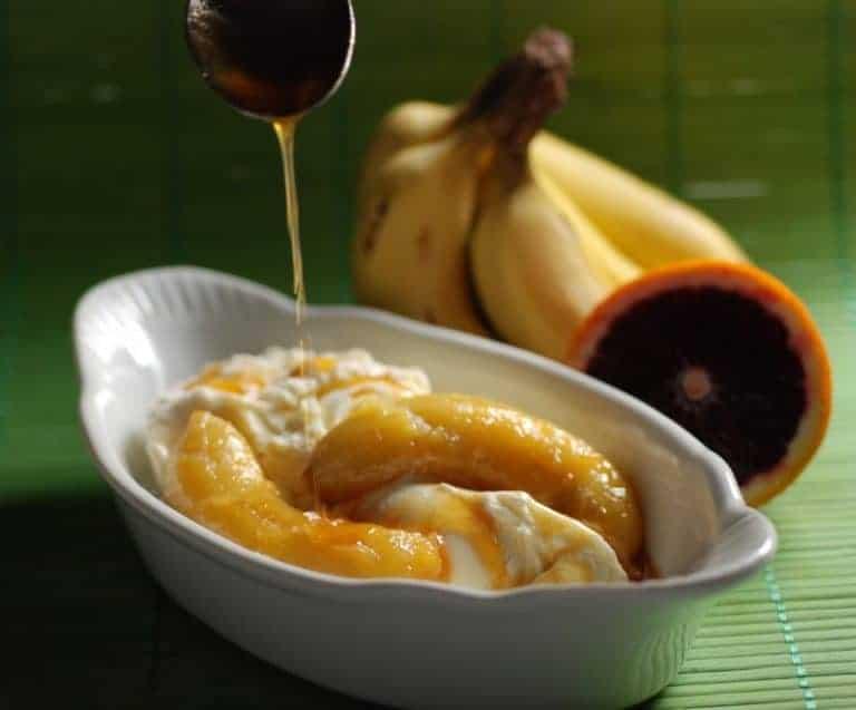 Bananas in Orange Sauce - International Cuisine