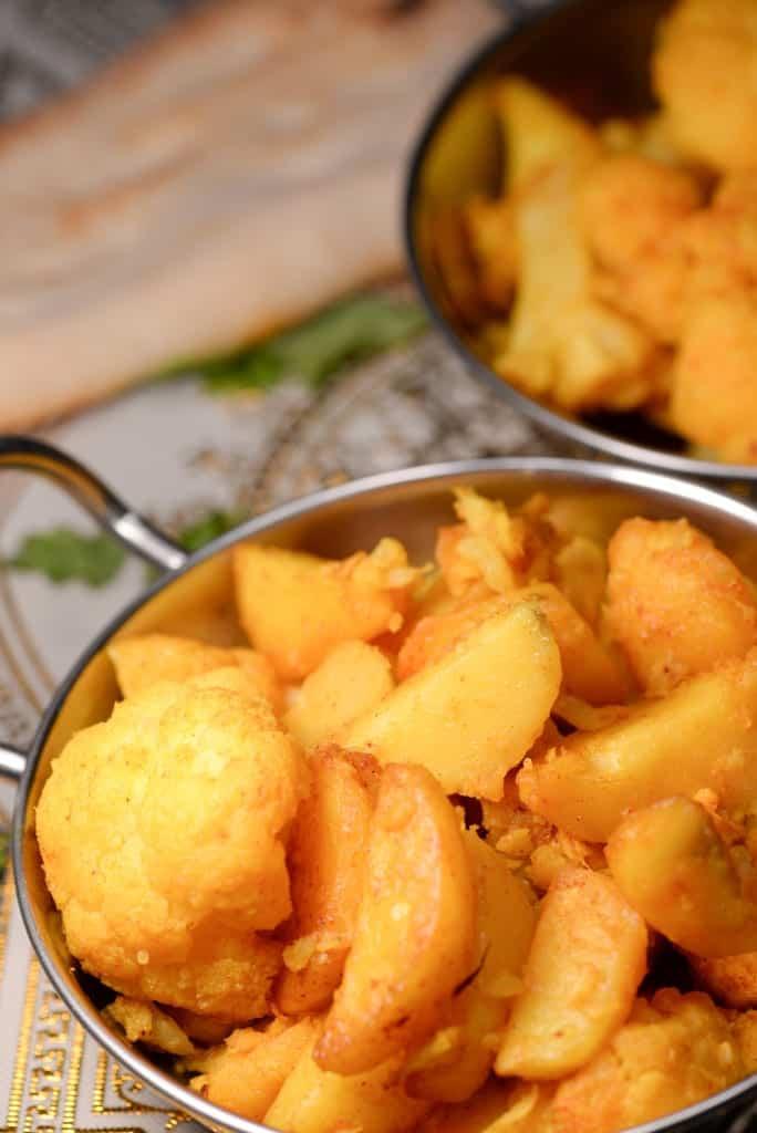 Indian Aloo Gobi (Spiced Cauliflower and Potatoes)