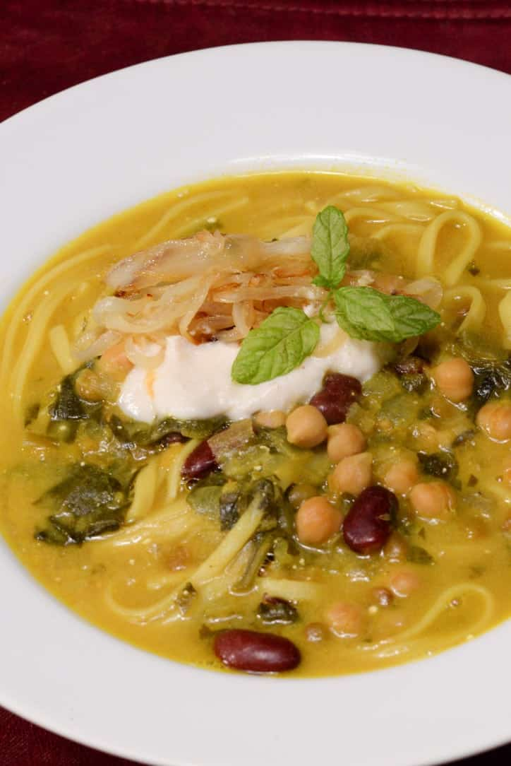 Persian New Year's Soup With Beans, Noodles, And Herbs Recipe ...
